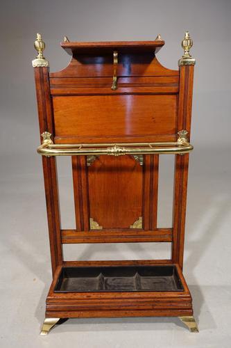 Late 19th Century Fine Quality Oak & Brass Stick Stand (1 of 5)