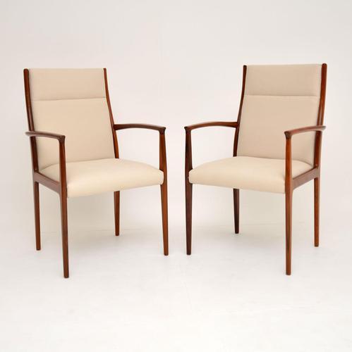 1960's Pair of Danish Vintage Rosewood Carver Armchairs (1 of 9)