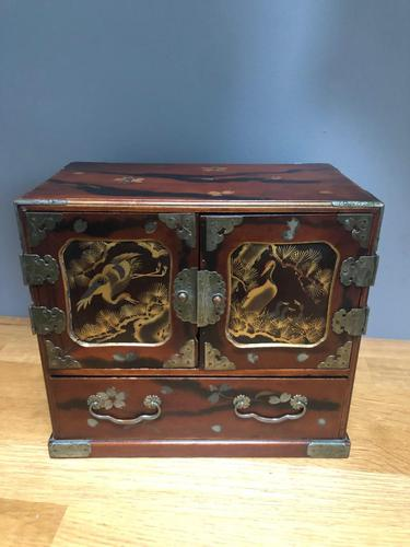 Antique Oriental Lacquered Table Cabinet (1 of 11)