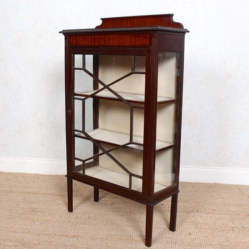 Glazed Bookcase Edwardian Astragal Display Cabinet Mahogany (1 of 11)