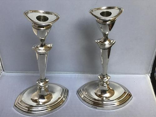 Excellent Pair of Solid Silver Candlesticks (1 of 6)