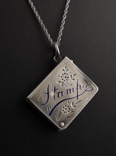 Victorian Silver Stamp Case Pendant (1 of 11)