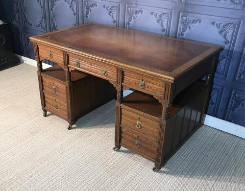 Victorian Oak Aesthetic Movement Desk (1 of 18)