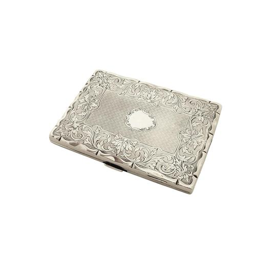 Antique Victorian Sterling Silver Card Case 1862 (1 of 8)