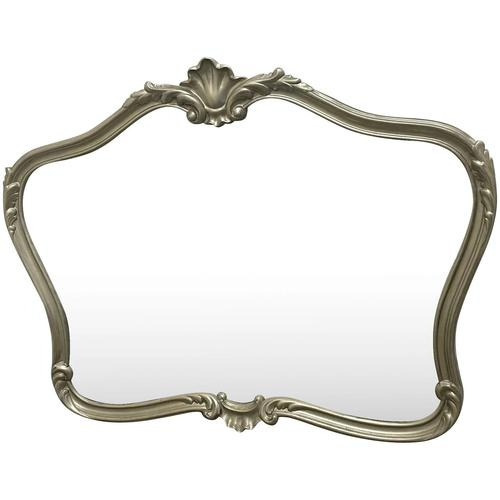 Beautiful French Regency Style Glass Silver Acanthus Crown Overmantle Mirror (1 of 23)