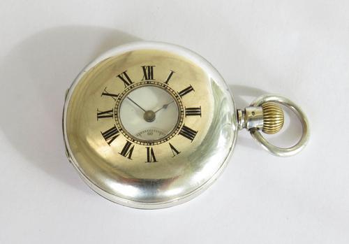 Antique Silver Half Hunter Pocket Watch (1 of 6)
