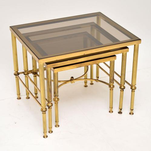 1950's Italian Brass & Glass Nest of Tables (1 of 8)