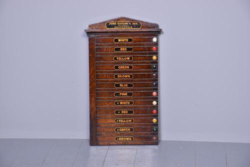 Victorian John Taylor & Sons Oak Billiard Scoreboard (1 of 5)