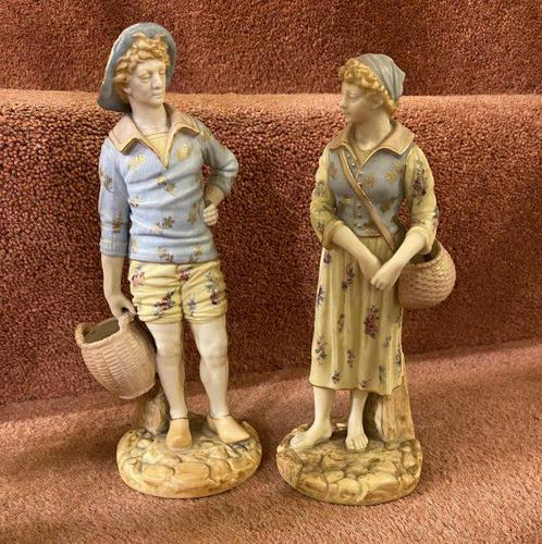 Good Pair of Royal Worcester Figures by James Hadley, dated 1895 (1 of 7)