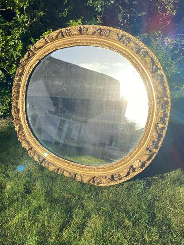 Early 18th Century Carved Giltwood Oval Mirror (1 of 6)