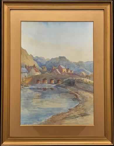 Large Original 19th Century Antique Yorkshire Landscape Watercolour Painting (1 of 11)