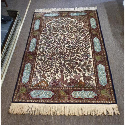 Superb Persian Silk Rug. Tree of Life Design (1 of 9)