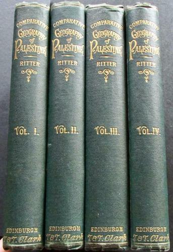 The Geography of Palestine & Sinaitic Peninsula by Carl Ritter - 4 Volume Set 1866 (1 of 1)
