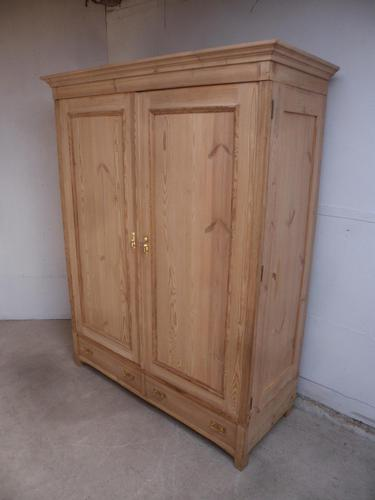 Large Victorian Antique / Old Pine Knockdown Wardrobe to wax / paint (1 of 12)