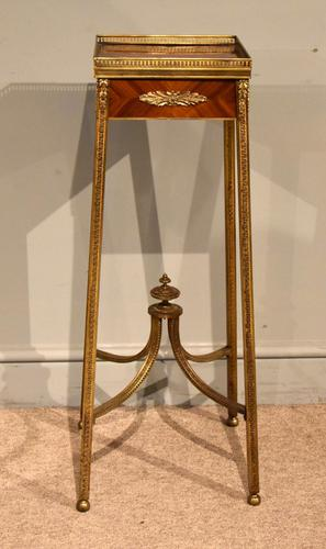 19th Century Gilt Bronze Tulipwood & Kingwood Urn Stand (1 of 8)