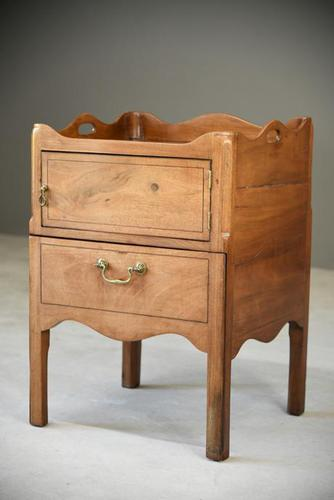Mahogany Tray Top Commode Bedside Cupboard (1 of 11)