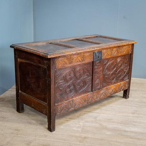 17th Century Oak & Elm Coffer (1 of 10)