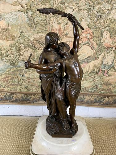 Stunning Large Bronze Group 'Gloria Patriae' by Eugene Marioton (1 of 9)