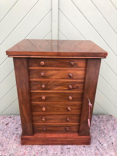 Antique Small Walnut Wellington Collectors Chest (1 of 10)