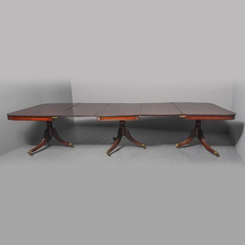 Regency Mahogany 3 Pillar Dining Table (1 of 7)
