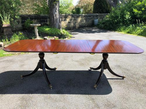 Antique Mahogany Twin Pillar Extending Dining Table (1 of 11)