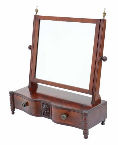Regency Mahogany Serpentine Dressing Table Swing Mirror (1 of 6)