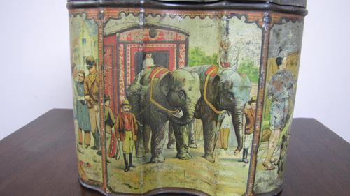 Huntley & Palmers Circus Biscuit Tin 1890s (1 of 7)