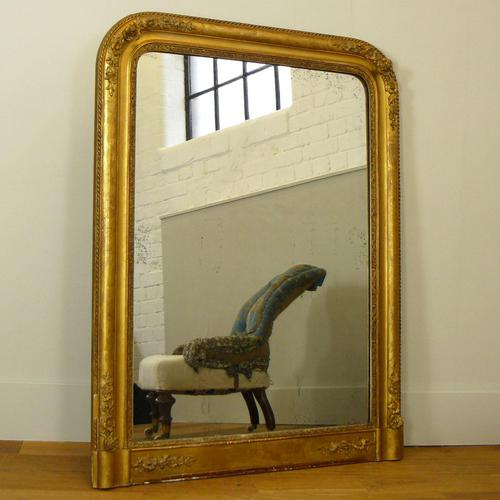 Large 19th Century Victorian Gilt Overmantle Mirror (1 of 14)
