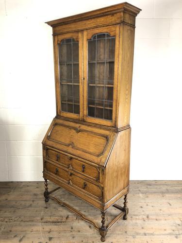 Early 20th Century Antique Oak Bureau Bookcase (1 of 17)