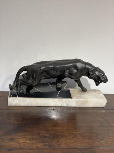 Art Deco Spelter Lion (1 of 8)