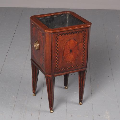 Antique Dutch Small Inlaid Mahogany Jardiniere (1 of 15)