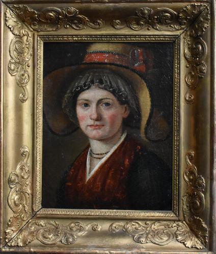"""Swiss School Portrait c1800 Inscribed """"Johann Biedermann 1763-1830"""" (1 of 9)"""