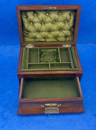 Victorian Walnut Jewellery Box c.1900 (1 of 13)