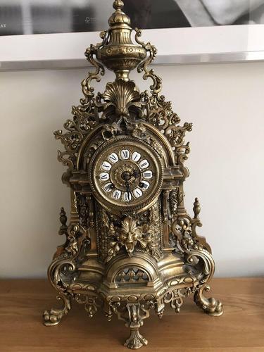 Antique Franz Hermle Imperial Ormolu Mantle Clock (1 of 4)