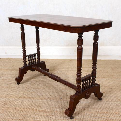 Library Desk Writing Table Mahogany 19th Century (1 of 13)