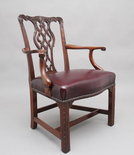 19th Century Mahogany Chippendale Style Chair (1 of 7)