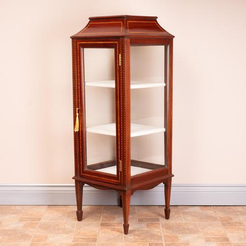 Pagoda Topped Edwardian Inlaid Mahogany Display Cabinet (1 of 14)