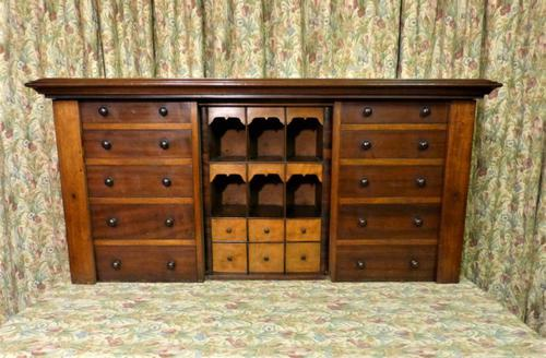 Set of Mahogany Drawers - 10 Large, 6 Small, 6 Small Trays (1 of 10)