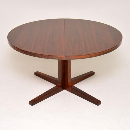 1960's Danish Rosewood Extending Dining Table by Dyrlund (1 of 10)