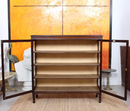 Glazed Bookcase Display Cabinet Edwardian Mahogany (1 of 9)