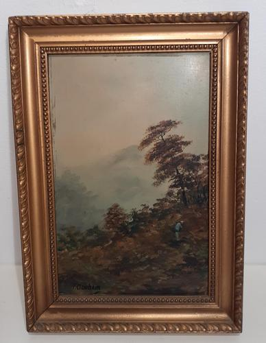 Original Mid-Century Oil Painting on Board (1 of 4)