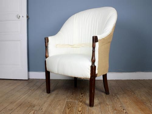 Victorian Tub Chair For Reupholstery (1 of 5)