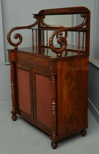 Fine Regency Mahogany Chiffonier Side Cabinet (1 of 18)