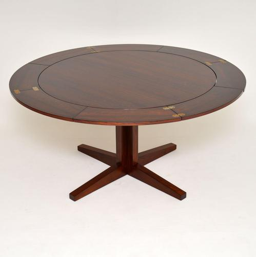 1960's Danish Rosewood Flip Flap Lotus Dining Table by Dyrlund (1 of 12)