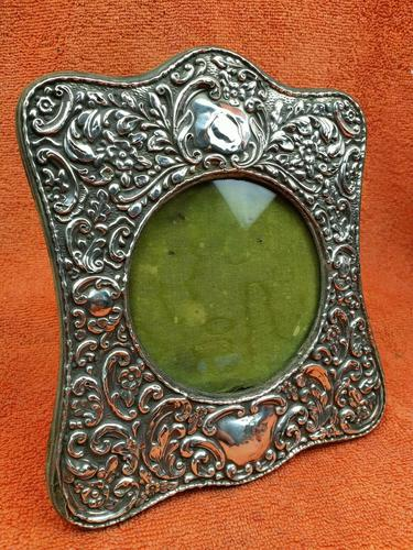Antique Sterling Silver Hallmarked Picture Frame 1906 J & R Griffin Chester (1 of 12)