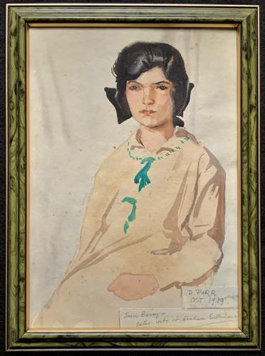 Original Antique Watercolour Portrait Painting of a Girl Guide c.1919 (1 of 9)