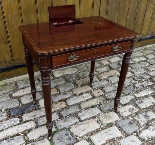 Gillows Small Mahogany Writing Table (1 of 6)