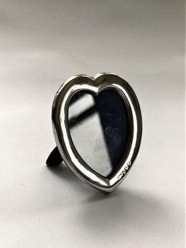 Late Victorian Small Heart Shaped Silver Frame (1 of 6)