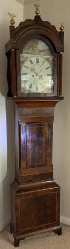 Mahogany Eight Day Victorial Longcase Clock (1 of 11)