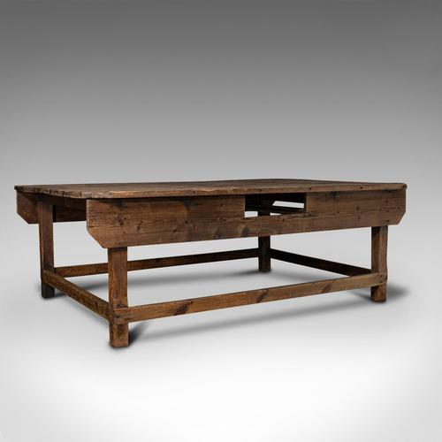 Large Antique Textiles Table, English, Pine, Shop, Retail, Display, Victorian (1 of 12)